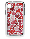 Lovely Heart Pattern Hard Case with Rhinestone for Samsung Galaxy S I9000