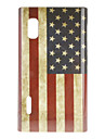 Retro US Flag Pattern Hard Case for LG Optimus L5 E612