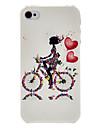 девушка на прозрачной рамки ПК случае шаблон велосипеда для IPhone 7 7 плюс 6с 6 плюс се 5с 5с 5 4s 4