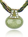 старинные богемный мозоль шарик циркон овальной ожерелье (aorted цвет)