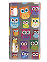 Cute Cartoon Owls in Line Pattern Hard Case for LG E610 Optimus L5