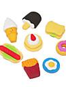Cartonn Симпатичные Быстрый Eraser Pattern питания (4 шт, случайных форм)