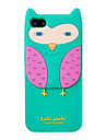 Silica Gel Cartoon Owl Pattern Protective Case for iPhone 5/5S