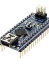 Modulo Nano V3.0 AVR ATmega328 P-20AU para Arduino (Preta e Azul)+ Cabo USB