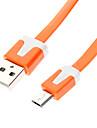 USB мужчина к Micro USB Мужской плоский тип Оранжевый (2М)