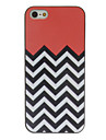 아이폰 5/5S를위한 검은 색과 흰색 파도 컬러 그림 패턴 블랙 프레임 PC 단단한 상자