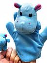 2шт Родитель-Ребенок рук и пальцы Куклы Синий Бегемоты