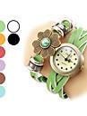 Women's Flower Pattern Leather Analog Quartz Bracelet Watch (Assorted Colors) Cool Watches Unique Watches