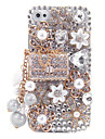 Liga Sachet Jóias Ornament Coberto Case Voltar para o iPhone 4/4S