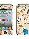 """Back to School"" Pattern Body Sticker for iPhone 4/4S"