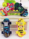 Skateboard Shaped Eraser (2 stuks)