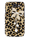 Leopard Bowknot Pattern Hard Case with Rhinestone for Samsung Galaxy S3 I9300