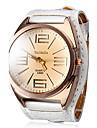 Women's Quartz Analog Big Tawny Dial White PU Band Wrist Watch Cool Watches Unique Watches Fashion Watch