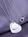 prata pingente coração padrão (pendente apenas)