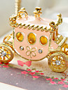 European and American retro sweet pumpkin car diamond sweater chain necklace N495