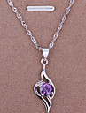 Z&X®  18K Sterling Silver Necklace With Shining Pendant Chain Jewelry