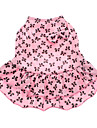 Dog Dress Dog Clothes Bowknot Pink Cotton Costume For Summer