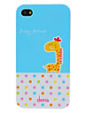 DEVIA Adorable Cartoon Giraffe and Round Dots Pattern PC Hard Case for iPhone 4/4S