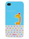 DEVIA очаровательны мультфильм Жираф и круглых шаблонов точек ПК Жесткий чехол для iPhone 4/4S