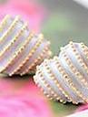 корейских ювелирных изделий серьги серьги персик сердца любовь полосами (случайный цвет)