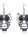 Women\'s Drop Earrings Crystal Silver Plated Owl Animal Jewelry Party Daily Casual