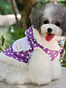 Dog Coat Dog Clothes Polka Dots Purple Blushing Pink