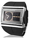 Men's Multi-Function Analog-Digital Steel Square Dial PU Band Wrist Watch Cool Watch Unique Watch Fashion Watch
