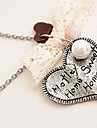 Antiga prata amor colar N20