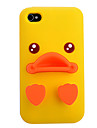 Jaune Etui en silicone de canard pour iPhone 4/4S (couleurs assorties)