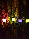 тюльпан дизайн солнечные светодиодные сад / газон пейзаж фонари (4шт)