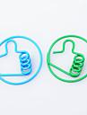 Thumb metal Clips de papel (10 PCS color al azar)