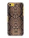 Caisse dure de PC de motif peau de serpent pour iPhone 5C (couleurs assorties)