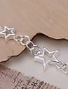 bracelets argentés étoiles de cuivre de mode 19.5cm femmes