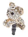 Практические Cute Puppy Потрясающие формы Стиль Rhinestoned мобильный телефон пылезащитный Plug
