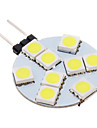 100-150 lm G4 Spot LED 9 diodes electroluminescentes SMD 5050 Blanc Froid AC 12V