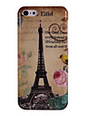 Eiffel Tower and Peony & Bird Pattern Plastic Protective Shell for iPhone 5C