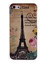 Torre Eiffel e peônia & pássaro padrão escudo protetor de plástico para iphone 5c