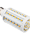 E26/E27 LED Corn Lights T 60 leds SMD 5050 Warm White 850-890lm 3000K AC 220-240V