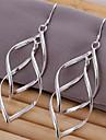 Silver Plared Spiral Copper Earrings