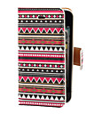 Aztec Colorful Stripe Pattern PU Full Body Case with Card Slot and Stand for iPhone 4/4S
