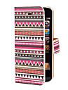 Capa Inteiriça com Compartimento para Cartão e Suporte com Padrão Asteca Colorido para iPhone 5/5S