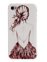 Relievo Series Projeto da menina tampa original Sexy Pc rígido Case Voltar para o iPhone 4/4S