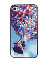 Colorful ballons Caisse dure de PC de modèle avec cadre noir pour iPhone 4/4S