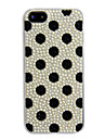 Plein de Zircon Noir Back Case Dot pour iPhone 5