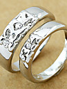 l'anneau de couple de mariage en argent (couleur aléatoire, une paire)