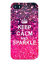 아이폰 5/5S용 Keep Calm and Sparkle TPU 소프트 케이스