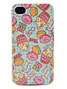 Cartoon Donut & Rose Hips Pattern TPU Imd Case for iPhone 4/4S