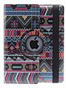 National Style Gorgeous Pattern 360 Degree Rotatable PU Leather Full Body Case with Stand for iPad 2/3/4