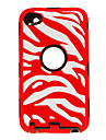 2-in-1 Design Zebra Stripe Pattern Protective Case for iPod Touch 4 (Assorted Colors)