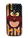 Урожай флаг США Совы Глянцевая ТПУ Мягкая обложка чехол для Samsung Galaxy S4 мини I9190 I9195